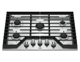 Whirlpool 30 Inch Gas Cooktop with Griddle WCG97US0HS