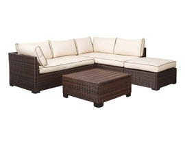Signature Design by Ashley Loughran 4-PC Loveseat Set in Beige/Brown P300-070