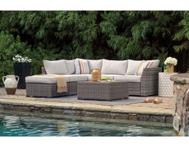 Signature Design by Ashley Cherry Point 4Pc Outdoor Sectional Set in Gray P301-070