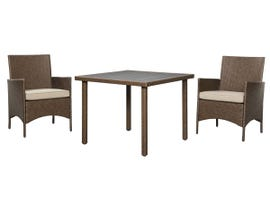Signature Design by Ashley Reedenhurst 3-PC Square Dining Table Set in Brown P307-115