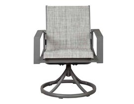 Signature Design by Ashley Okada Sling Swivel Chair in Gray P315-602A