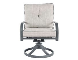 Signature Design by Ashley Donnalee Bay Swivel Lounge Chair in Dark Gray P325-601A