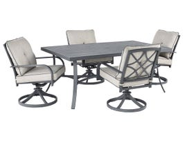 Signature Design by Ashley Donnalee Bay 4-PC Dining Table Set in Dark Grey P325-625-601A(4)