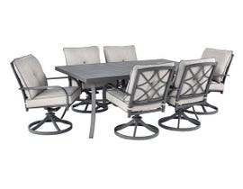 Signature Design by Ashley Donnalee Bay 7-PC Dining Table Set in Dark Grey P325-625-601A(6)