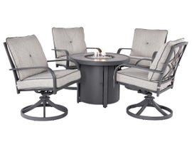 Signature Design by Ashley Donnalee Bay 5-PC Round Fire Pit Table Set in Dark Grey P325-776-601A(4)