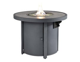 Signature Design by Ashley Donnalee Bay Round Fire Pit Table in Dark Grey P325-776