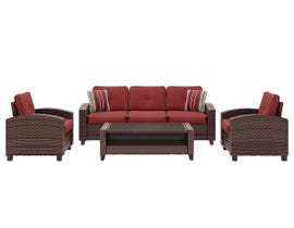 Signature Design by Ashley Meadowtown 4-PC Sofa/Chairs/Table Set in Brown P333-081