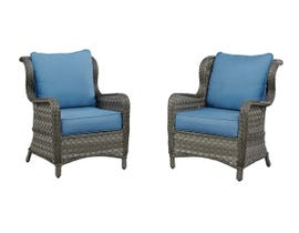 Signature Design by Ashley Abbots Court 2-PC Lounge Chair with Cushion in Blue/Brown P360-820