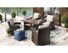 Signature Design by Ashley Salceda 5-PC Retangular Table Set in Brown P451-625-821(4)