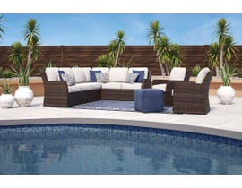 Signature Design by Ashley Salceda 4-PC Sofa Sectional in Brown P451-823-821