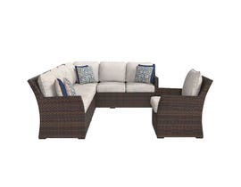 Signature Design by Ashley Salceda Sofa Sectional in Brown P451-823