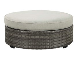 Signature Design by Ashley Spring Dew Ottoman with Cushion in Grey P453-814