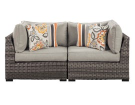 Signature Design by Ashley Spring Dew 2-PC Corner with Cushion in Grey P453-877
