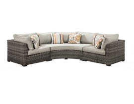 Signature Design by Ashley Spring Dew 3-PC Sectional in Grey P453-877-851