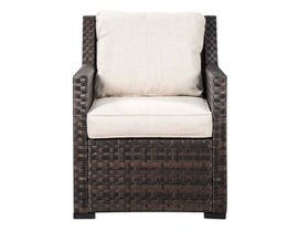 Signature Design by Ashley Easy Isle Lounge Chair in Dark Brown/Beige P455-820