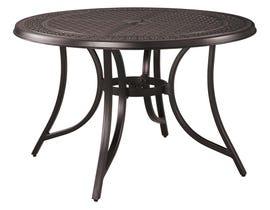 Signature Design by Ashley Burnella Round Dining Table with Umbrella Option in Dark Brown P456-615