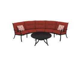 Signature Design by Ashley Burnella 4-PC LAF/RAF Loveseat and Table Set in Burnt Orange P456-855-856-846-708