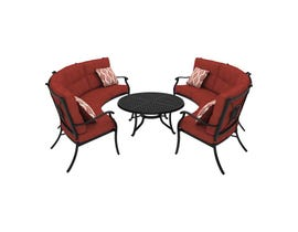 Signature Design by Ashley Burnella 5-PC LAF/RAF Loveseat and Table Set in Burnt Orange P456-855(2)-856(2)-708