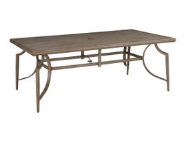Signature Design by Ashley Partanna Rectangular Dining Table with Umbrella Option in Brown P556-625