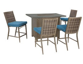 Signature Design by Ashley Partanna 5-PC Bar Table Set in Brown P556-665-130