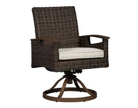 Signature Design by Ashley Paradise Trail 2-PC Swivel Chair with Cushion in Medium Brown P750-602A