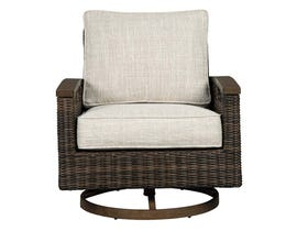Signature Design by Ashley Paradise Trail 2-PC Swivel Lounge Chair in Medium Brown P750-821