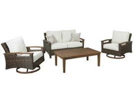 Signature Design by Ashley Paradise Trail 4-PC Cocktail Table Set in Medium Brown P750-835-821(2)-701