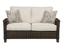 Signature Design by Ashley Paradise Trail Loveseat with Cushion in Medium Brown P750-835