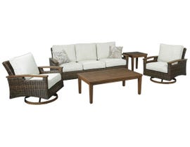 Signature Design by Ashley Paradise Trail 5-PC Cocktail Table Set with End Table in Medium Brown P750-838-821(2)-701-702