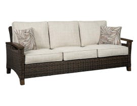 Signature Design by Ashley Paradise Trail Sofa with Cushion in Medium Brown P750-838