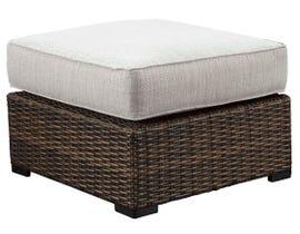 Signature Design by Ashley Alta Grande Ottoman with Cushion in Grey/Dark Brown P782-814