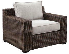 Signature Design by Ashley Alta Grande Lounge Chair with Cushion in Grey/Dark Brown P782-820