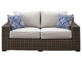 Signature Design by Ashley Alta Grande Loveseat with Cushion in Grey/Dark Brown P782-835
