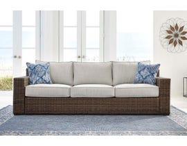 Signature Design by Ashley Alta Grande Sofa with Cushion  in Grey/Dark Brown P782-838