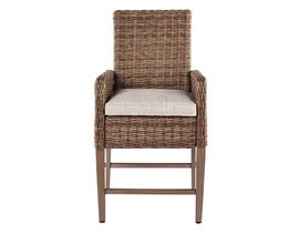 Signature Design by Ashley Beachcroft 2-PC Barstool with Cushion in Beige P791-130