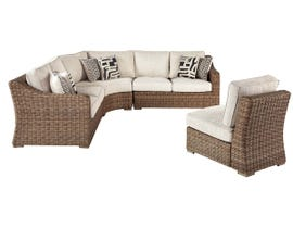Signature Design by Ashley Beachcroft 4-PC RAF/LAF Loveseat with Corner Chair in Beige P791-854-851-846