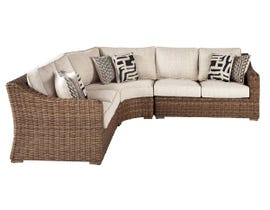 Signature Design by Ashley Beachcroft 3-PC RAF/LAF Loveseat with Corner Chair in Beige P791-854-851