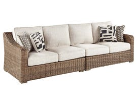 Signature Design by Ashley Beachcroft 2-PC RAF/LAF Loveseat with Cushion in Beige P791-854