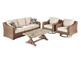 Signature Design by Ashley Beachcroft 4-PC Sofa Set in Beige P791-838-821(2)-701