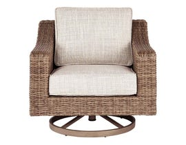 Signature Design by Ashley Beachcroft Swivel Lounge Chair in Beige P791-821