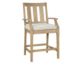 Signature Design by Ashley Clare View 2-PC Barstool with Cushion in Beige P801-130