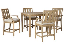 Signature Design by Ashley Clare View 5-PC Square Bar Table Set in Beige P801-613-130(4)