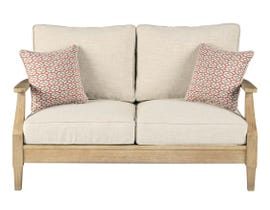 Signature Design by Ashley Clare View Loveseat with Cushion in Beige P801-835