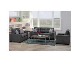 Sofa by Fancy Fabric 3Pc Sofa Set in Annapolis Granite 4352