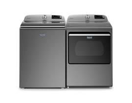 Maytag Laundry Pair 5.4 cu. ft. Washer MVW6230HC & 7.4 cu. ft. Electric Dryer YMED6230HC