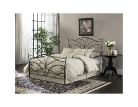 Sinca Papillon King Bed with Metal Frame in Brushed Bronze