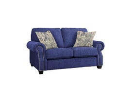 Decor-Rest Rico Collection Fabric Loveseat in Paradigm Navy/Delhi Sand 2279