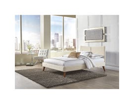 Sinca Parkland King Platform Bed in Ivory