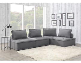 High Society Paxton Collection 4Pc Modular Sectional in Charcoal