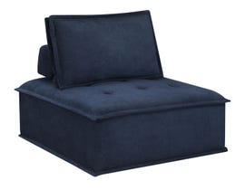 High Society Paxton Collection Armless Chair in Navy